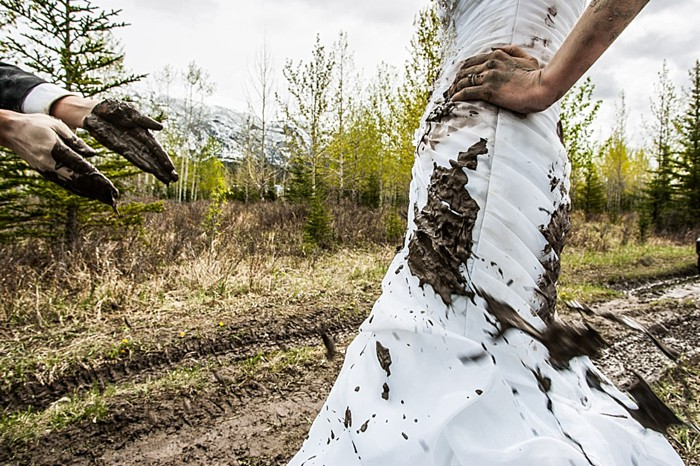Canadian Rocky Mountain Trash the Dress | Photography by One Edition | See More at http://mountainsidebride.com/2014/02/one-edition-trash-the-dress