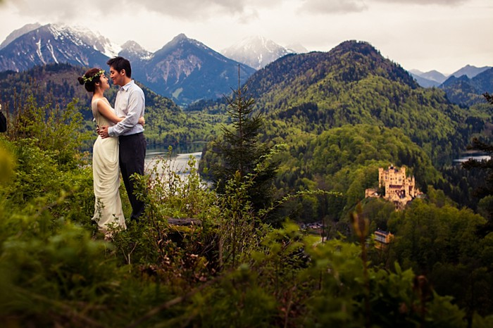 Stunning Honeymoon Session in the Bavarian Mountains