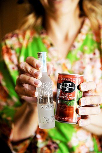 Bloddy Mary pre-wedding Drinks | Deer Valley Utah Wedding | Pepper Nix Photography