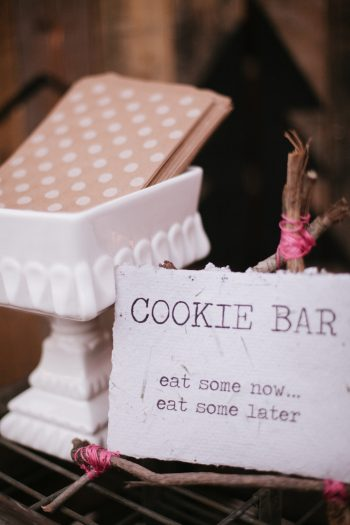 cookie bar sign  | Park City Luxury Home Wedding