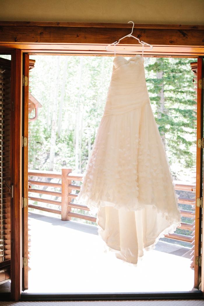 dress | Park City Luxury Home Wedding