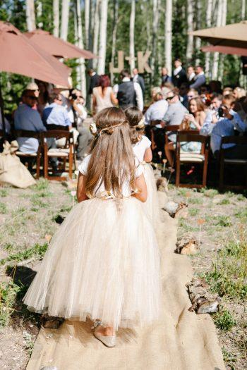 flower girls | Park City Luxury Home Wedding