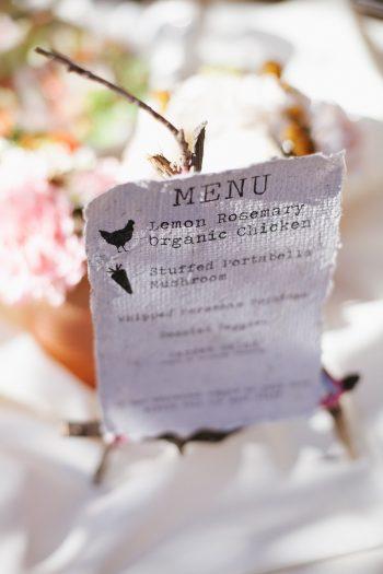 menu | Park City Luxury Home Wedding