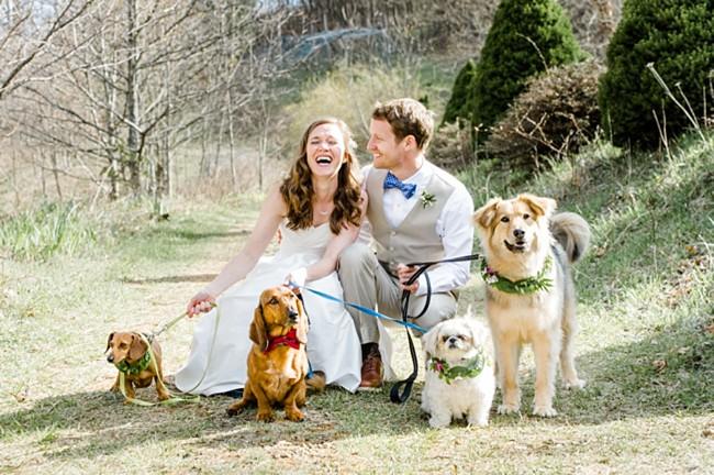 Rustic Boone North Carolina Wedding with 4 Dogs | Caroline Lima Photography