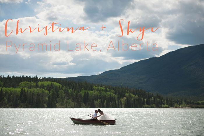 Christina and Skye in a canoe   Pyramid Lake wedding   Jarusha Brown Photography