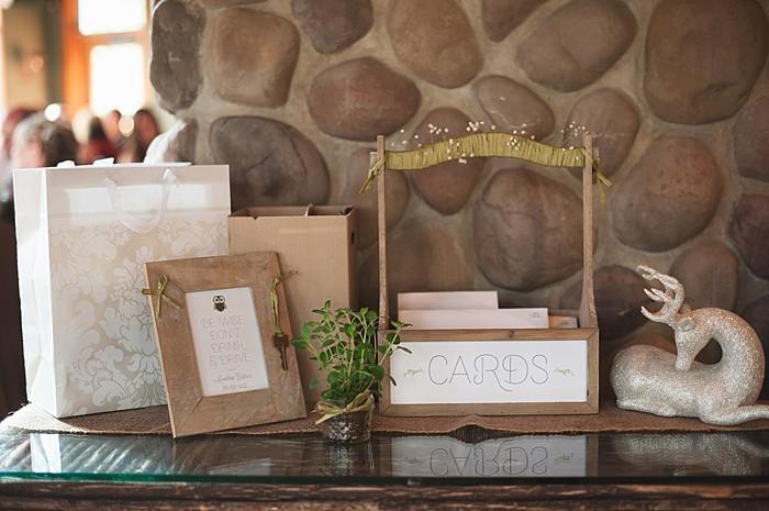 rustic cards box   Pyramid Lake wedding   Jarusha Brown Photography