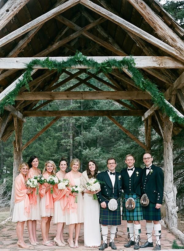 Peach bridesmaids wraps | Dunton Hot Springs Wedding |Laura Murray-0003