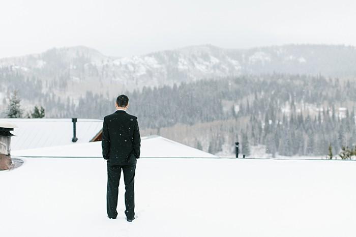 Groom wants in the snow | Frozen Winter Utah Mountain Wedding | Meg Ruth Photo