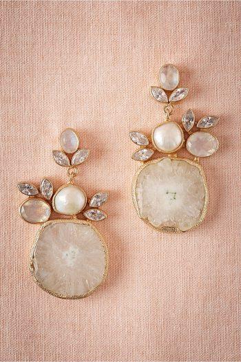 Druzy Drop Earrings   BHLDN