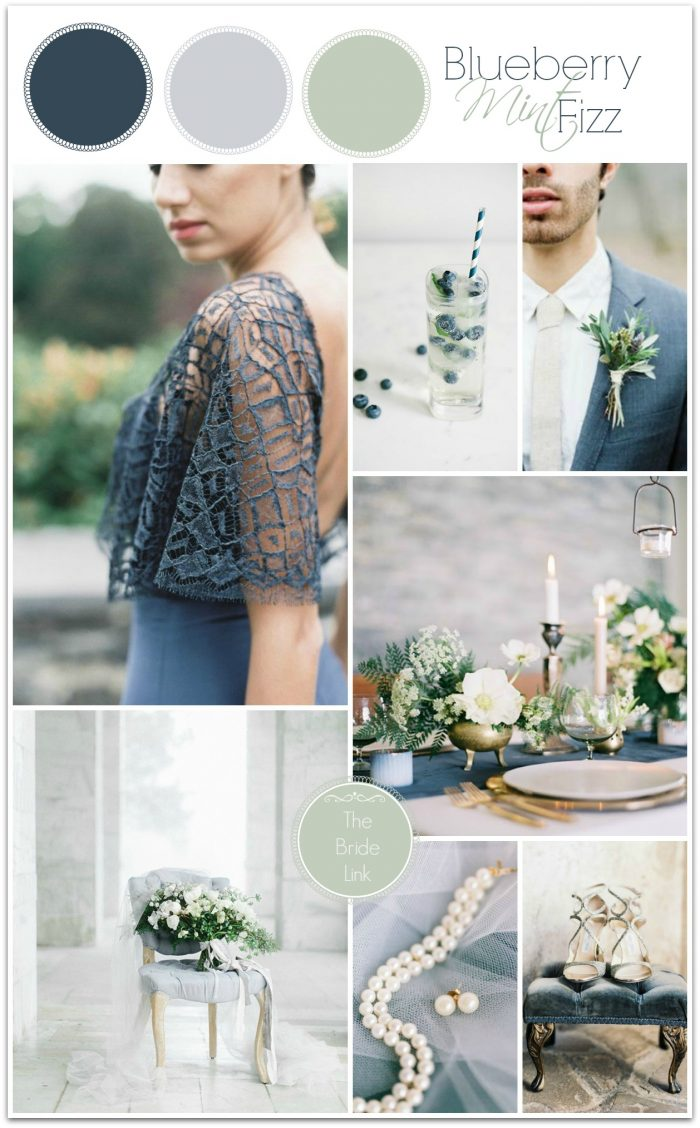 blueberry mint fizz signature cocktail and wedding inspiration| curated by @thebridelink