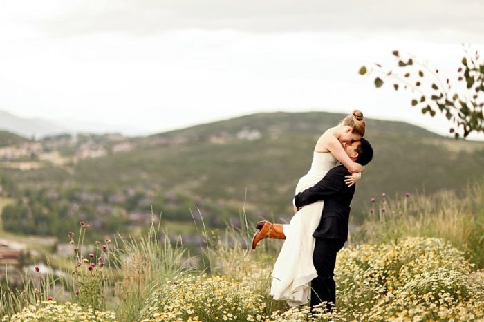 mountain bride and groom | Park City Utah Wedding | Pepper Nix Photography