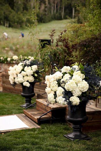 Ceremony- Flower Ideas | Park City Utah Wedding | Pepper Nix Photography
