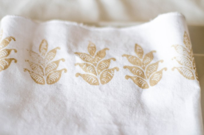 Simple DIY Block Printed Wedding Napkins