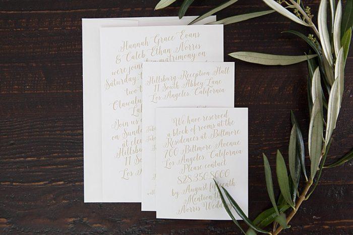 Basic Invite Romantic Gold And White Wedding Invitations
