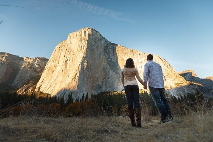 1 Fall Engagement In Yosemite | Bergreen Photography | Via MountainsideBride.com