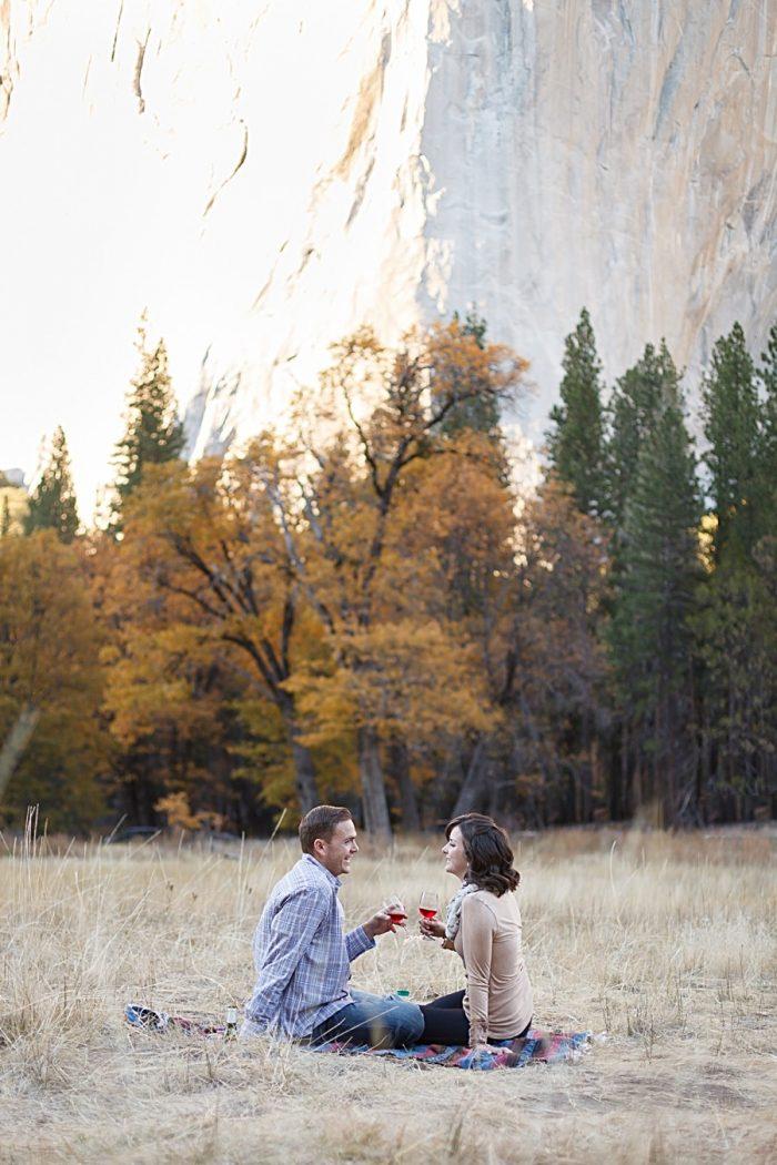 10 Fall Engagement In Yosemite | Bergreen Photography | Via MountainsideBride.com