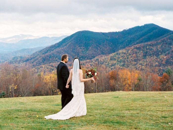 Autumn Smoky Mountain Elopement at the Swag Inn