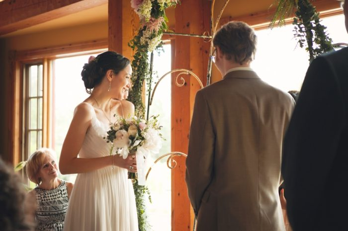16 Ceremony Vows Sandpoint Idaho Mountain Wedding Amy Galbraith Photography   Via MountainsideBride.com