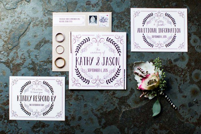 Whimsical wedding invitation suite | Copper Mountain Wedding Colorado Danielle DeFiore Photography | Via Mountainsidebride.com