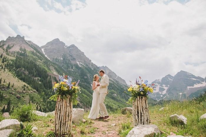 Intimate Wildflower Wedding in Aspen, Colorado