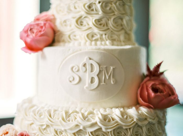 Wedding Cake Butterfly Gap Wedding Maryville Tennessee JoPhoto | Via MountainsideBride.com