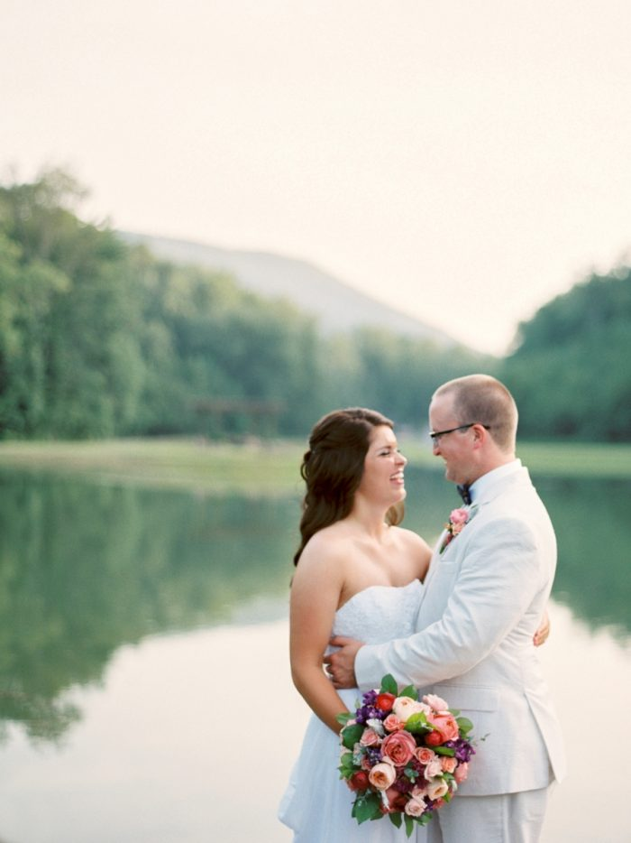 Laughter Butterfly Gap Wedding Maryville Tennessee JoPhoto | Via MountainsideBride.com