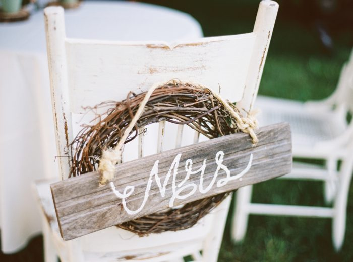 Rustic Mrs Sign | Pure Water Farm Wedding Tennessee | JoPhoto | Via MountainsideBride.com