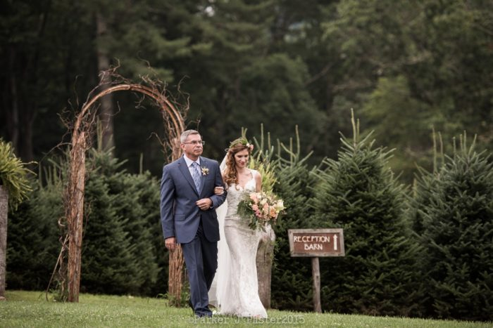 Ceremony Procession 2 Cashiers NC Wedding | Parker J Pfister |via Mountainside Bride