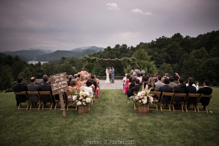 Ceremony View Cashiers NC Wedding | Parker J Pfister |via Mountainside Bride