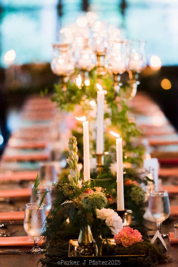 Candle Lit Table Cashiers NC Wedding | Parker J Pfister |via Mountainside Bride