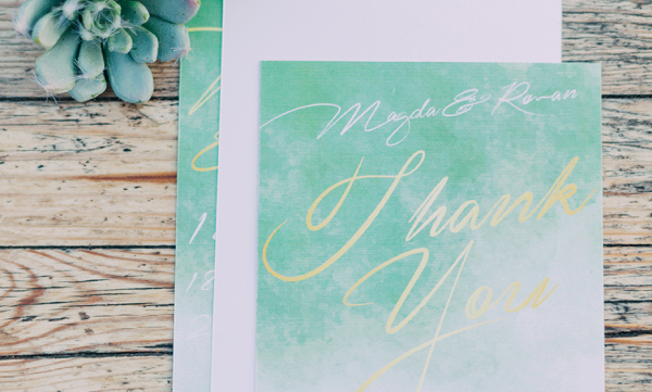 Quick and Easy Thank You Note Template