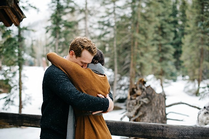 10 Vail Winter Engagement   Searching For The Light   Via MountainsideBride.com