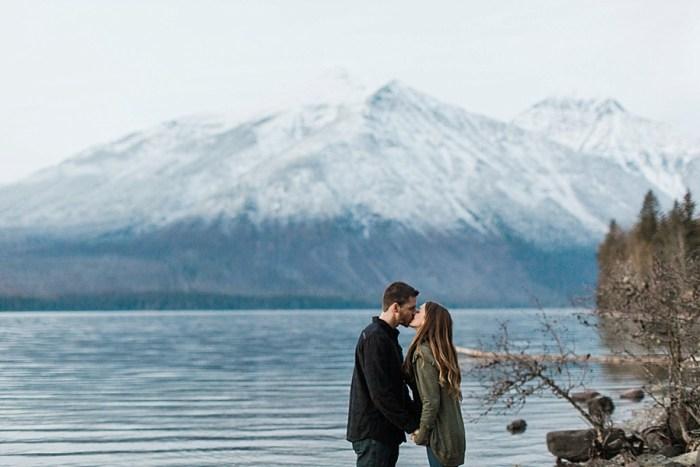 10 Glacier National Park Engagement | Joni Bilderback Photography | Via MountainsideBride.com