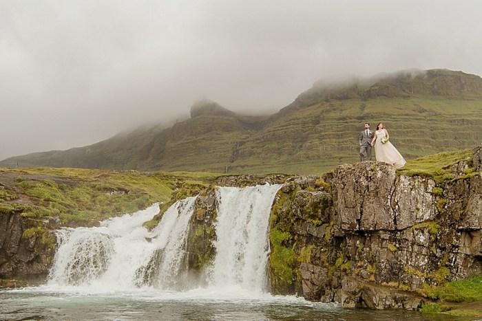 Windswept Wedding Portraits in Iceland
