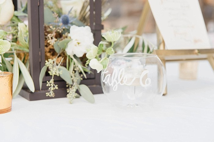 28 Table Number Sunshower Photography Via MountainsideBride.com