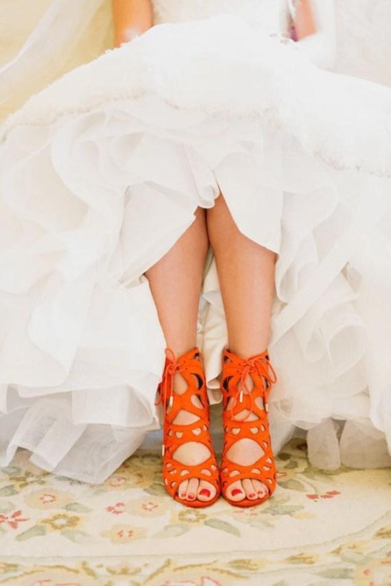 4 Orange Laser Cut Shoes Pantone Fall 2017 Autumn Maple 625