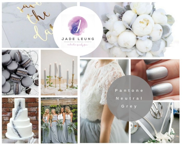 Pantone 2017 Wedding Inspiration Neutral Grey