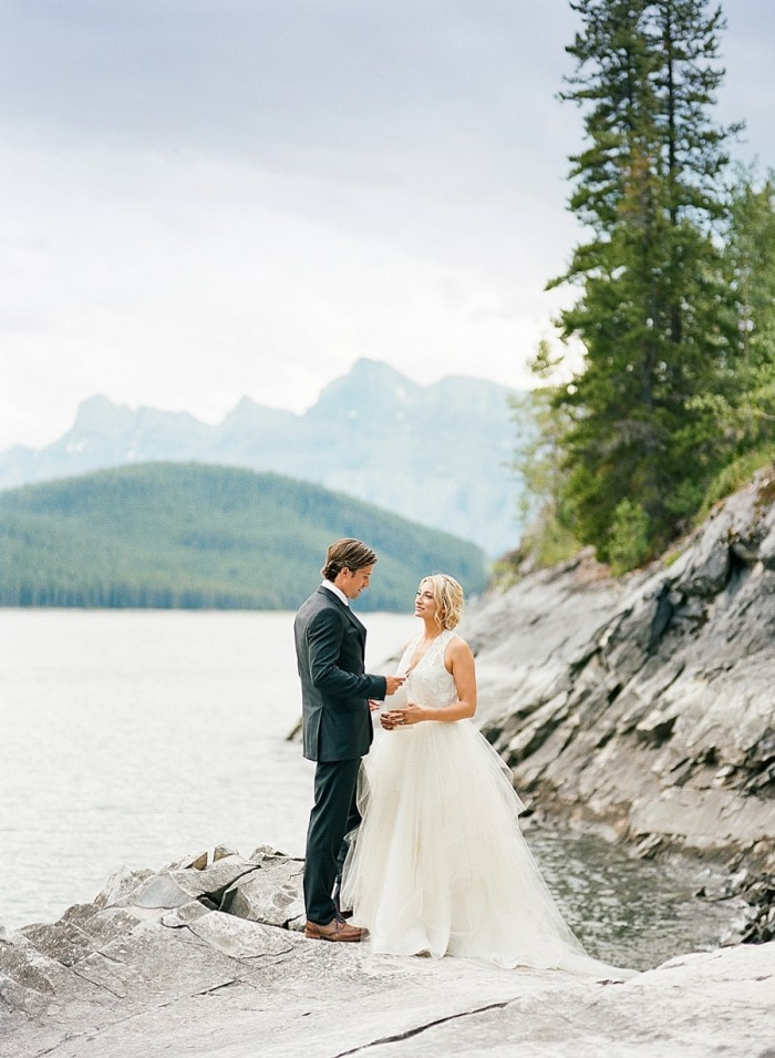 Stunning Lakeside Elopement in the Rocky Mountains