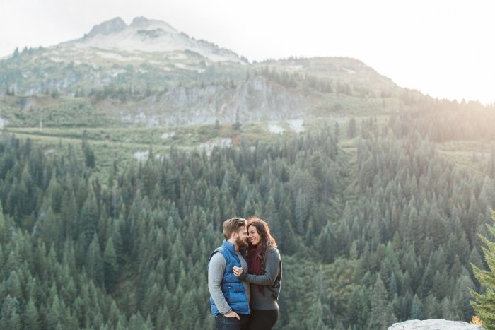 Laura + Josh Mount Rainier Engagement | Breanna Elizabeth