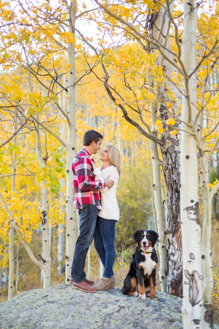 16 Fall Engagement In Vail Colorado Bergreen Photography Via MountainsideBride