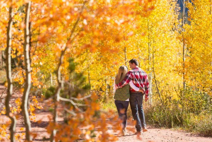 2 Fall Engagement In Vail Colorado Bergreen Photography Via MountainsideBride