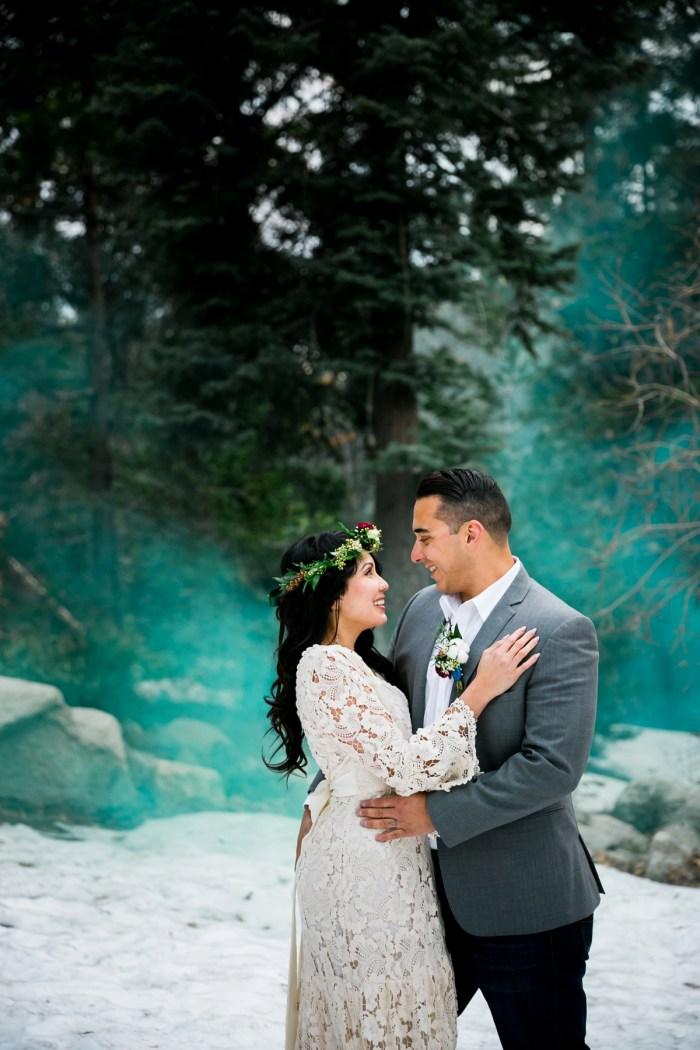 37 Big Bear Winter Wedding Inpiration Sarah Mack Photo Via MountainsideBride.com