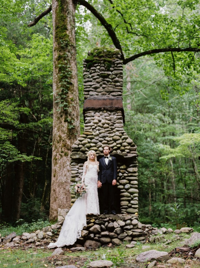 Romantic Smoky Mountains National Park Wedding at Spence Cabin