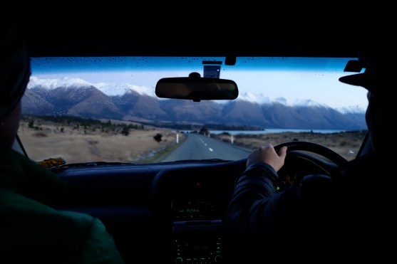 Driving towards the Ohau Ski Field