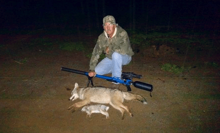 ron with coyote kill