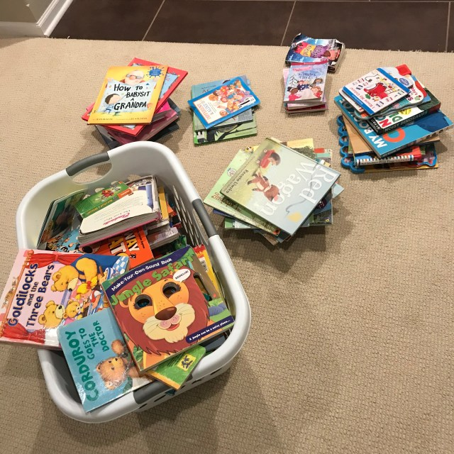 Organizing kids books during corona quarantine via Ashley Stevens at Mountains Unmoved
