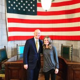 Ashley Stevens with Governor Ricketts on The Nebraska Way podcast via Mountains Unmoved