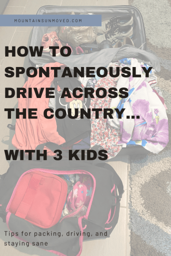 How to spontaneously drive across the country with 3 kids via Ashley Stevens at Mountains Unmoved