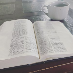 Coffee and Bible for 'What Does the Bible Say About Trusting God During Hard Seasons?' post via Ashley Stevens at www.mountainsunmoved.com