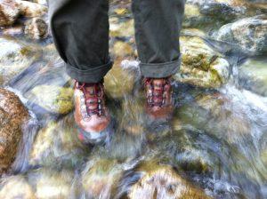 My boots were still dry.